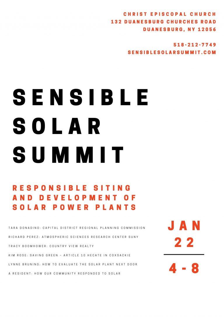 Sensible Solar Summit @ Christ Episcopal Church